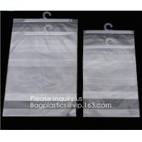 Wholesale HANGER HOOK BAGS,GARMENT BOTTON CLOSURE BAGS, EVA FROST DRAWSTRING BAGS, VINYL HANGER HOOK BAG from china suppliers
