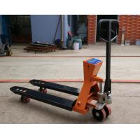 China Mild Steel Pallet Jack Scale , 2t Capacity Pallet Weight Scale With Hand Brake for sale