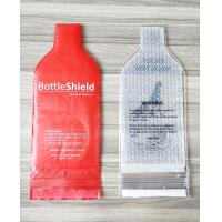 China Leak-proof Wine Bottle Protection Bags Reusable Wine Bottle Protector with Interior Air Bubble Cushion for sale