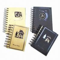 Wholesale Notebooks with CMYK Printing, Measures 15 x 21cm, OEM and ODM Orders are Welcome, Weighs 80gsm from china suppliers