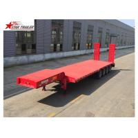 Wholesale Easy Operate Extendable Drop Deck Trailer , Extendable Lowboy Trailer With Fixed Landing Leg from china suppliers