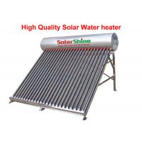 Stainless Steel Evacuated Tube Solar Hot Water Heater Freestanding Installation for sale