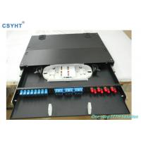 Wholesale Rack Mount Fiber Optic Distribution Box 24 Fibers Sliding Out 19 Inch 1U Drawer from china suppliers