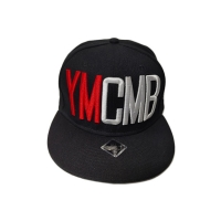 Wholesale Customized Black 5-Panel Panel Flat Bill 3D Embroidery Logo Snapback Cap Sports Cap from china suppliers