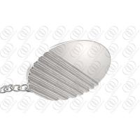 Wholesale Anti-corrosion Oval Ribbed Steel Jewelry Tie Tack With Chain from china suppliers