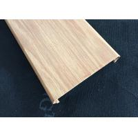 Wholesale C- Shaped Width 100mm Commercial Aluminum Wood Ceiling Panels For Shopping Hall from china suppliers