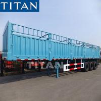 Wholesale TITAN Grain Hoppers Step Wise Fence Cargo Stake Truck Trailer from china suppliers