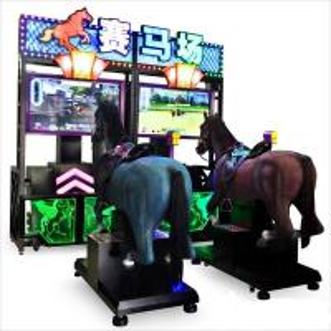 Wholesale Metal Fiberglass Horse Racing Arcade Machine / Go Go Jockey Video Game Machine from china suppliers