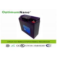 Wholesale 20Ah Standard Capacity 12V Lithium Battery , Steel Case Rechargeable LithiumBatteryPacks from china suppliers