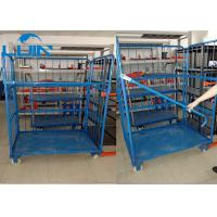 Best Metal three Sides Powder Coated Folding Pallet Logistic Trolley Racking Systems For Warehouses wholesale
