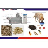 Quality Dry Dog Fish Cat Pet Food Making Machine Twin Screw Extruder Three Phase for sale