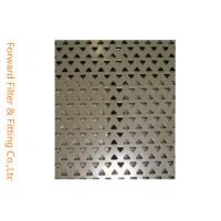 Quality Triangle / Diamond Perforated Metal Sheet Screen for Pharmaceutical Industries for sale