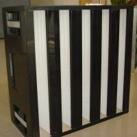 High efficiency ventilation system plastic frame V bank air filter for sale