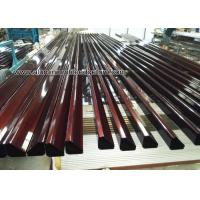 Wholesale Extruded Aluminum Hex / Round / Oval Tube With Wood Grain Effect from china suppliers
