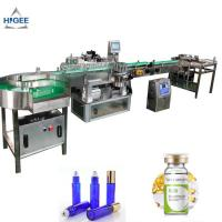 Wholesale Cosmetics PLC Automatic Sticker Labeling Machine For Alcohol Whisky Bottle Wrap from china suppliers