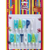 Wholesale Multi-colors Happy Birthday Letter Candles (ZMC0015) from china suppliers