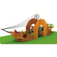 China Moetry Wooden Children Pirate Ship Playground Equipment Outdoor Playground for Sale for sale
