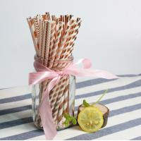 Wholesale Cheap birthday party color paper drinking straw for Export trade from china suppliers