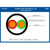 Wholesale (2*1.5~2*240mm²)Unarmoured 0.6/1KV 2C Low Voltage Power Cable With PVC Insulated CU Conductor (CU/PVC/NYY/N2XY) from china suppliers