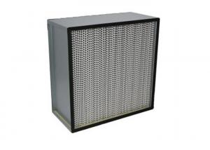 Wholesale Fiberglass H13 Deep Pleat Cleanroom HEPA Filters / HEPA Air Filter With Separator from china suppliers
