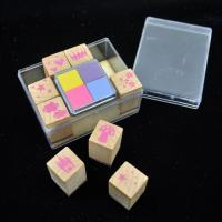 China Alphabet wooden stamp set custom rubber kids toy stamp wholesale for sale