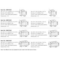 G-MORE Wholesales Wall Lean-To Series Aluminum Polycarbonate Hobby Greenhouse SIZE1 (2).png