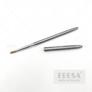 Wholesale Grey Size #2 4 6 8 Customized One Stroke Flat Square Oval Nail Uv Gel Brush from china suppliers
