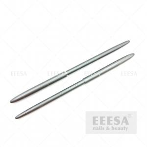 Wholesale Grey Aluminum Handle 9mm Length Wholesale Custom Logo Nylon Nail Art Pen Brush from china suppliers