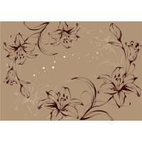 Modern Flowers Bamboo Fiber Board For Living Room / Teahouse Decoration