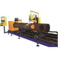China Round Steel Pipe Processing Machines 3 Axis Flame / Plasma Cutting Method for sale