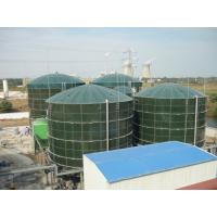 Glossy Glass Lined Steel Tanks , Bolted Steel Tanks Gas / Liquid Impermeable