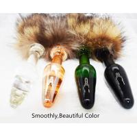 China Fetish Furry Wild Fox Tail Glass Anal Plug Slave Cosplay Couple Flirting Products Anal Beads Plug Tail Sex Toys for sale
