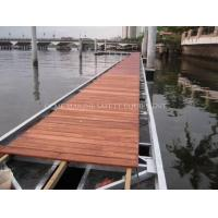 Wholesale Floating dock with aluminum frame decking Foam-Filled Floating pontoons Hdpe plastic pontoon from china suppliers