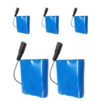 Wholesale Heated Cloth Battery 3.7V 6600Ah with PCM and connector, blue PVC, fit for Searchlight, loudspeaker, led light from china suppliers