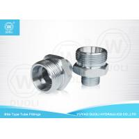 Carbon Steel Hydraulic Bite Type Tube Fitting Metric Thread With ED - Ring