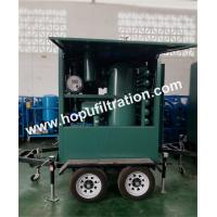 outdoor usage two stage vacuum transformer oil purifier equipped with trailer,insulated oil treatment with weather proof for sale