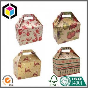 Gable Shape Matte Color Printing Paper Box; Gable Paper Packaging Gift Box