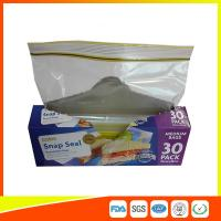Wholesale Supermarket Reuseable Plastic Clear Sandwich Bags Zipper Top 22 * 25cm from china suppliers