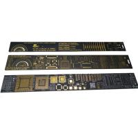China Free Design Customized PCB Accessories PCB Ruler With Company Name And Logo for sale