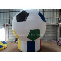 Best Football Shaped Inflatable Advertising Air Balloons 3m For Sport Game Pvc Tarpaulin wholesale