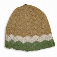 Wholesale Women's Knitted Hat, Made of 100% Acrylic from china suppliers