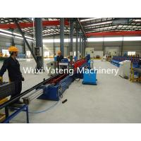 Best 25KW Storage Rack Roll Forming Machine With Buffer 25000mm * 2000mm * 1700mm wholesale