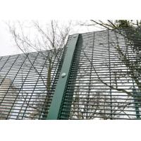 Wholesale Green / Black Metal 358 Security Fence Powder Coated With Posts And Hardware from china suppliers