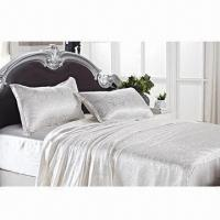 Wholesale Silk quilt cover/silk bedding set, luxurious and breathable, warm in winter and cold in summer from china suppliers
