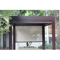 China Outdoor Gazebo Heat Gain Roller Blinds With Aluminium Alloy and Roller Motor for sale