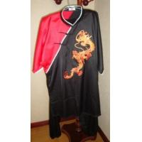 Fine Artificial Silk Kungfu Suit