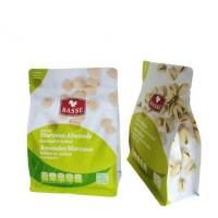 Snack Food Package Custom Logo Printing Nuts Plastic Zipper Packaging Bag With Tear Notch for sale