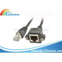 China Cat5e RJ45 M/F Shielded Ethernet Network Screw Panel Mount Extension Cable on sale