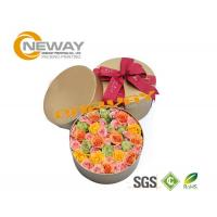 Quality Fashion OEM Round Flower Paper Box Embossing Printing With Lids for sale