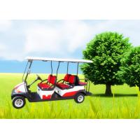 Big Tyre 6 Seater Golf Cart , Street Legal Electric Golf Carts Ce Approved